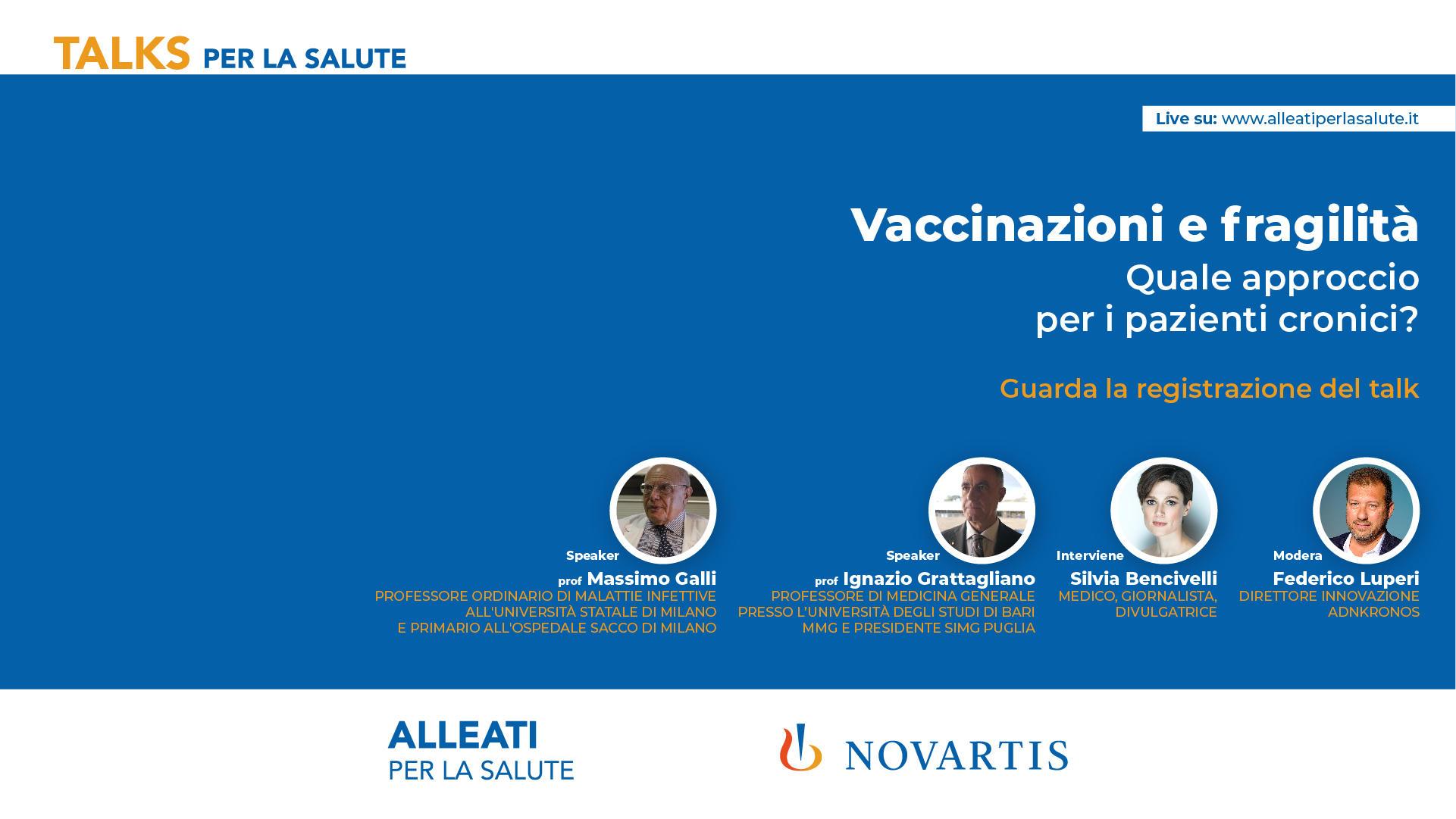 Talks per la Salute: Vaccinazioni e Fragilità